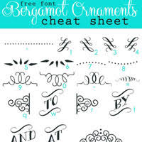 font sheets bergamot ornaments character map in my own style