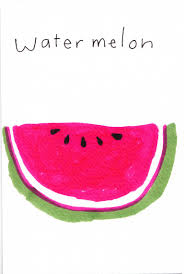 pink martini drawing jane reiseger watermelon illustrated yum pinterest