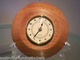 wood turned wall prickly ash wood turned wall clock ebay