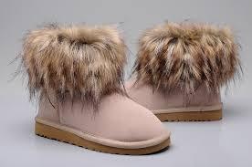 womens ugg boots fox fur ugg 5854 fox fur boots sand 108 00 professional ugg