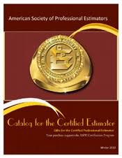 Construction Estimating Certification by Certification Program Details Society Of Professional