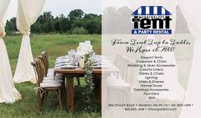 tent and table rentals mississippi tent and party rental home