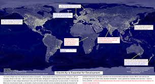 World Map At Night by Earth At Night Multimedia Index Global Energy Network