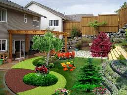 Sloped Garden Design Ideas Sloped Garden Landscape Raised Bed And Decking Design Ideas For
