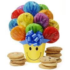 cookie bouquet smiley pot cookie bouquet