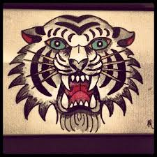 traditional style tiger flash watercolor flash