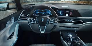 2018 bmw x7 interior concept with futuristic dashboard style