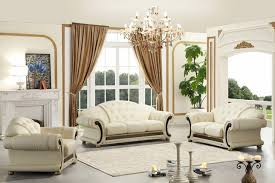 Ital Leather Sofa Divani Casa Cleopatra Traditional Italian Top Grain Leather Set