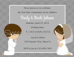 Invitation Card For Holy Communion First Communion Invitation Twins Digital File