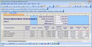 Excel Templates For Inventory Management Simple Stock Portfolio Management By Excel Guidance