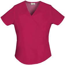 scrubstar s fashion essentials mock wrap scrub top walmart