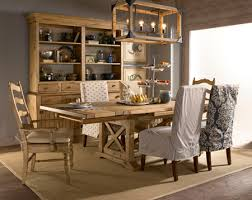 Vintage Pine Refractory Trestle Table Dining Room Set By Kincaid - Pine dining room sets