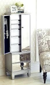 Tall Jewelry Armoire Armoire Swivel Mirror Jewelry Armoire Tall Espresso Brown