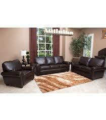 Livingroom Set Living Room Sets Bellagio 3 Piece Leather Set