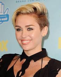 whats the name of the haircut miley cyrus usto have hairstyles for 2014 trendy side parted short haircut from miley