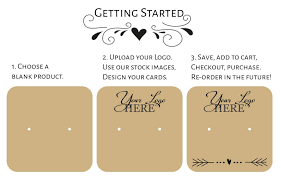 design your own card design tool design your own jewelry product display cards