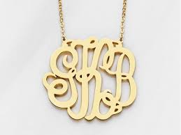 large monogram necklace large monogram necklace centime gift