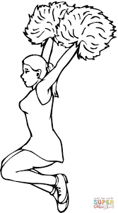 download coloring pages cheerleading coloring pages cheerleading