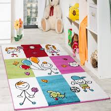 Children Rugs Rug Child U0027s Room Cheerful Kids In Check Pattern Multicolour Cream
