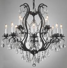 a83 3034 8 4 wrought iron chandelier chandeliers crystal