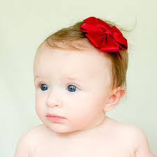 baby girl hair bows satin baby or toddler hair bow bitty bows boutique