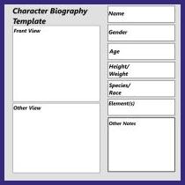 character bio template job proposal sample