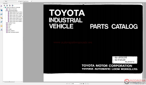 toyota forklift equipments parts catalog cd auto repair manual