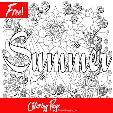 free printable summer coloring page make breaks