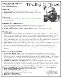 example of a youth pastor resume