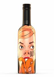 cartoon alcohol bottle bliss fruit wine student project on packaging of the world