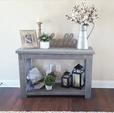 rustic x console table modified ana white s rustic x console table and used minwax classic