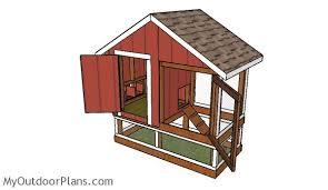 4x8 chicken coop plans myoutdoorplans free woodworking plans