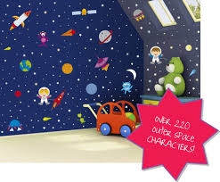 Outer Space Decorations Outer Space Wall Decals Awe Inspring Rocket Wall Decals For