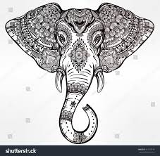 vintage mandala vector elephant tribal ornaments stock vector