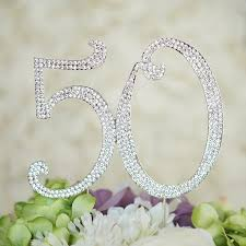 w cake topper number 50 birthday anniversary cake topper