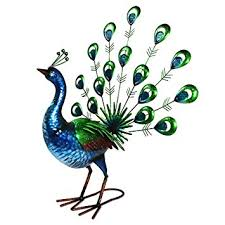 primus lifelike metal painted vibrant fan peacock