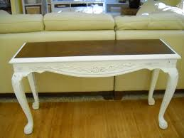 Diy Sofa Table Ideas Refinished Sofa Table Using Chalk Paint Cute Ideas Pinterest