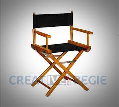 siege metteur en chaise metteur en scène créative régie