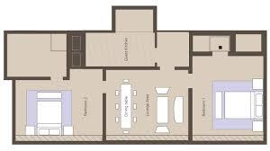 luxury 2 bedroom residence suite the langham sydney