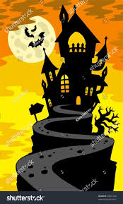 House Silhouette by Haunted House Silhouette On Hill Vector Stock Vector 58851040