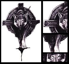 celtic wolf by agrestowata on deviantart inked