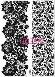 wholesale new lace black henna tattoo sticker totem butterfly sun
