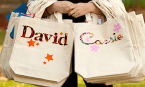 personalized party favor bags cheap totes from hobby lobby personalized kid stuff
