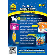bedtime alphabet night time learning interactive flash cards