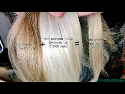 how to blend hair color blending human and synthetic hair different colours youtube