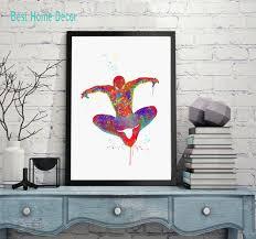how to hang art prints without frames online shop spiderman art print original watercolor spider man