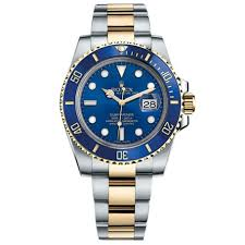 gold bracelet mens watches images Pre owned rolex submariner blue index dial oyster bracelet mens jpg