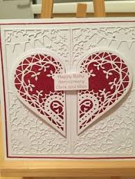 handmade anniversry cards personalised handmade 40th ruby