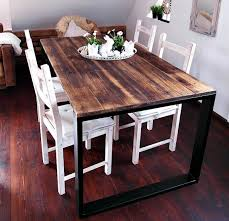 hand crafted reclaimed wood u0026 steel dining table handmade