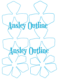 printable rose flower templates diy paper flowers how to